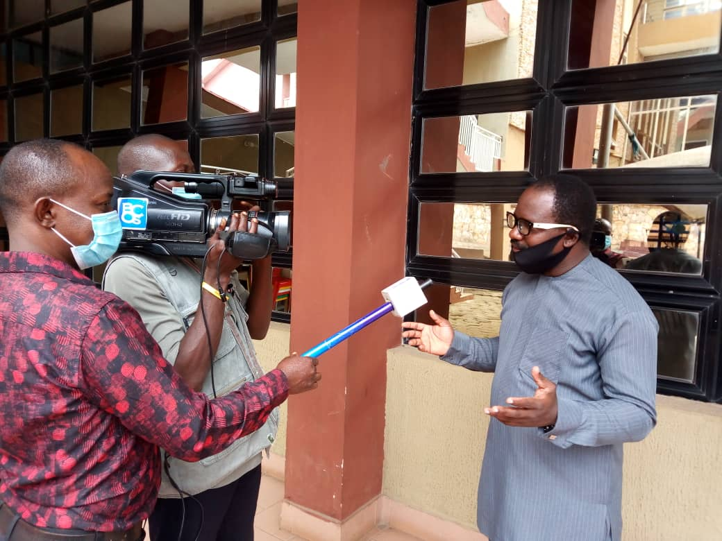 Elderly Friendly Ambassadors speaking to Broadcasting Corporation of Oyo State on Elderly Friendliness